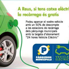 A Reus si tens cotxe elèctric, la recàrrega és gratis