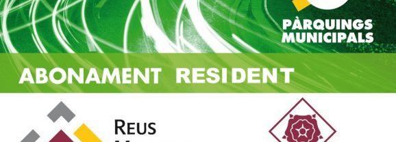 Nova tarifa resident als pàrquings municipals per 33 euros al mes