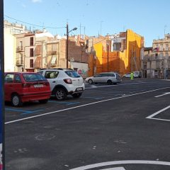 Entra en servei la nova àrea de 76 places d'aparcament al barri del Carme